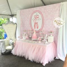 "592 Likes, 3 Comments - Woo'em (@wooemdesign) on Instagram: ""ballerina themed baby shower! : @creationsbyjohn Any theme, any event! Inquiries:…"""
