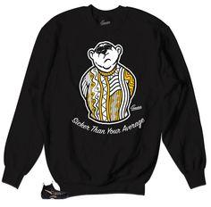 8a7bc09e130bcb Foamposite Black Gold Sweater - Big Bear - Black. Gold SweaterYellow Sweater Jordan ...