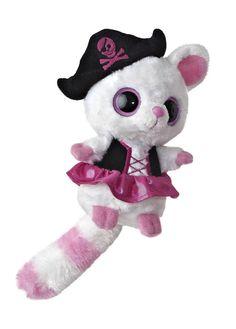 "5"" Aurora Plush Yoo Hoo & Friends Lemur Pirate Stuffed Animal Toy w/ Sound 13493 #Aurora #YooHooFriends"