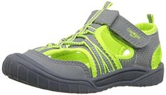 OshKosh B'Gosh Jax2-B Open Bump Toe Sandal (Toddler/Little Kid), Grey/Neon, 11 M US Little Kid - Brought to you by Avarsha.com