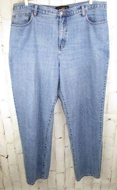 5e0d2fe98a7 Ashley Stewart Womens Jeans Pants Dark Wash Blue Denim Straight Leg Plus  Size 20