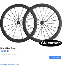 bicycle parts: 700C 50Mm Clincher Bike Carbon Road Bicycle Wheels Carbon Wheelset BUY IT NOW ONLY: $385.0 #priceabatebicycleparts OR #priceabate
