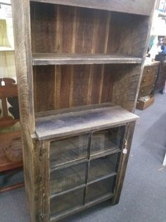 barn wood hutch primitive