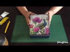 Napkin Decoupage on MDF jewellery box A quick decoupage video tutorial on how to work with a decorative napkin and a MDF/wooden jewellery box. Materials used - MDF box from Craftslane. Napkin Decoupage, Decoupage Tutorial, Decoupage Box, Decoupage Vintage, Diy Craft Projects, Craft Tutorials, Craft Ideas, Ideas Paso A Paso, Decorative Napkins