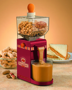 The Nostalgia Electrics NBM400 Peanut Butter Maker can also make other nut butters such as almond or cashew.
