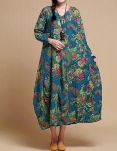Mujeres suelta ajuste traje largo vestido Maxi largo / vestido largo mujer