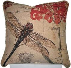 DaDa Bedding Dragonfly Dream Woven Cushion Cover. Our cushion covers and throw…