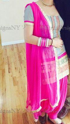 Punjabi salwar suit.