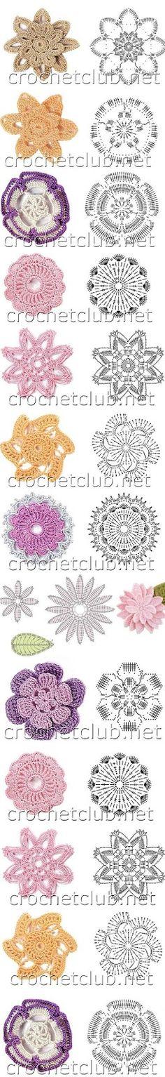 Receitas de Crochet: Flores de crochet