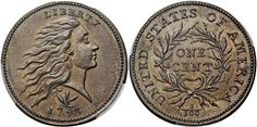 1793 Wreath Cent with Vine and Bars PCGS MS65 Brown is available at the Heritage Auctions Long Beach Expo U.S. Coins Signature Auction in Long Beach, California, June 4-7, 2015...Another extreme rarity in this sale is a 1793 Wreath Cent with Vine and Bars; this is a PCGS MS65 Brown and the current FMV is $237,500. There are five coins total in higher grades with the highly regarded PCGS MS69 the finest known...