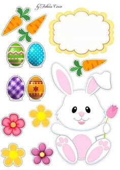 Diy Home Crafts, Crafts For Kids, Arts And Crafts, Easter Printables, Printable Crafts, Hoppy Easter, Easter Bunny, Bug Toys, Cake Banner