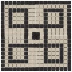 Merola Tile Old World Greek Key Antique White and Black in. x 5 mm Unglazed Porcelain Mosaic Floor and Wall Tile-FXLOWGKD - The Home Depot White Wall Tiles, Tile Trim, Classic Architecture, Ancient Architecture, Art Deco Home, Greek Key, Porcelain Tile, Mosaic Tiles, Mosaic Art