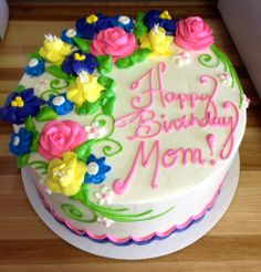 Girly Vintage Birthday Cakes Whipped Cream