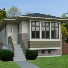 Mini House Plans, Small House Floor Plans, Cottage Style House Plans, Tiny House Cabin, Tiny Houses, Craftsman Style Exterior, 20x40 House Plans, Small Villa, Small Bungalow