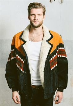 Vintage 80s Aztec Suede Sherpa Coat, 58 £ available at ASOS.MP/NORTHERNGRIP