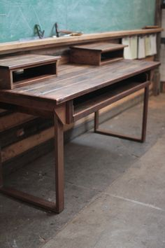 Reclaimed Audio Desk for music and film production
