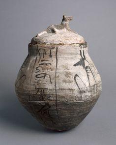 Shawabty Jar with Lid, 1295-1069 BC. Egypt, New Kingdom, Dynasty 19 (1295-1186 BC) - Dynasty 20 (1186-1069 BC).