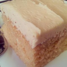 I made this in a pinch with ingredients I had sitting in the pantry. The cake is pretty darn tasty even without the frosting. My peanut butter-loving family says this is now their favorite dessert. And what doesn't go with peanut butter? You can drizzle chocolate on the frosting or place sliced bananas between a two layered cake. Your favorite jam would go great dolloped on top of cupcakes! Oh, the possibilities are endless. I hope you enjoy it.