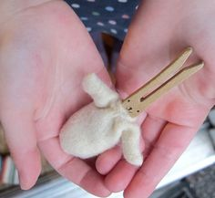 how to: baby clothespin bunny