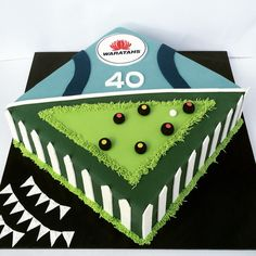 Warratah's and Lawn bowls cake