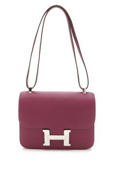 Hermes Tosca & Rose Tyrien Epsom Leather Constance at Moda Operandi