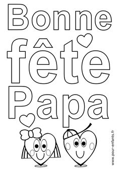 Home Decorating Style 2020 for Bonne Fete Papa Coloriage, you can see Bonne Fete Papa Coloriage and more pictures for Home Interior Designing 2020 3124 at SuperColoriage. Fathers Day Crafts, Free Printable Coloring Pages, Mother And Father, Crafts For Kids, Activities, Education, Ms Gs, Grands Parents, Smileys