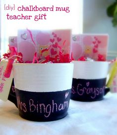 Teacher gift - would be cute with a gift card or something small included.