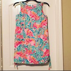 Lilly Pulitzer Peel and Eat Shift Dress, SZ 2 HOLY GRAIL! Lilly Pulitzer Peel and Eat Print Shift Dress, Women's SZ 2 (NOT CHILD)! Front pockets, back zipper, and side bows! EUC! Lilly Pulitzer Dresses Midi