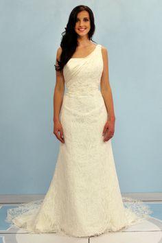 something barrowed something new Sharon's Indian inspired something new one shoulder wedding dress