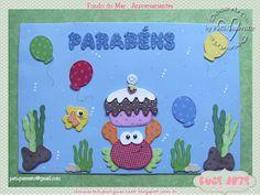 Doce Arte by Pati Guerrato: Decoração de sala de aula - Fundo do mar Sea Theme, Kirigami, Under The Sea, Classroom Decor, Professor, Paper Art, Safari, Alice, Scrapbook