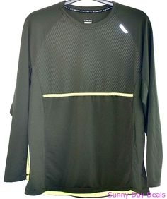 Hind Mens Shirt 365 Running Long Sleeve XXL Green Yellow Fitness Training 2XL  #Hind #ShirtsTops
