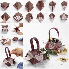 DIY Beautiful Origami Gift Basket 3