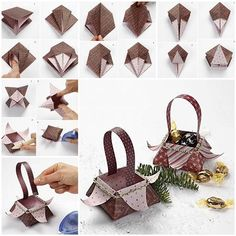DIY, diy image, diy jewlery, diy crafts, diy photo, diy picture http://www.womans-heaven.com/diy-beautiful-origami-gift-basket/