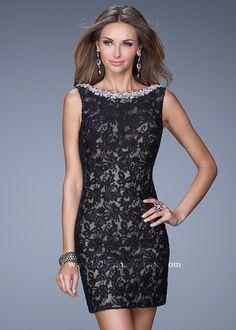 La Femme 20506 Sparkly Lace Dress SALE