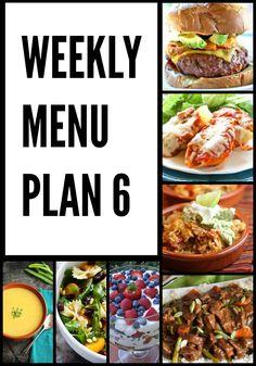Weekly Menu Plan #6