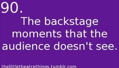 I love all those backstage moments!! Sometimes they are better then the show ;)