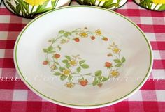 """Vintage Corelle """"Strawberry Sunday"""". I have ONE of these and I'm dying for more!"""