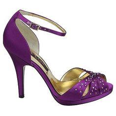 Womens Nina Elizia Purple Satin Shoes.com