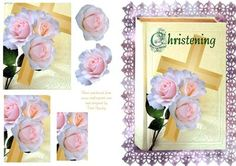 - Very Pretty christening card for boy or girl. Christening Cards For Boys, Boy Or Girl, Decoupage, Card Making, Greeting Cards, Basket, Make It Yourself, 3d, Frame