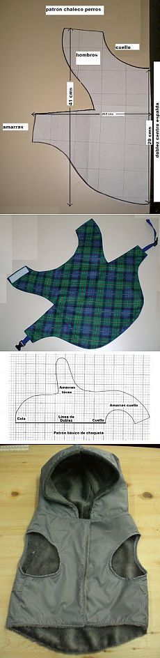 Free Dog Vests-shirts-coats, sweaters-dresses-caps-pants, bandanas, etc... Patterns & Instructions