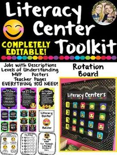 Love running Literacy Centers in your room? Looking for a way to make them more purposeful and appealing? You have found what you have been looking for, and better yet, this bundle is COMPLETELY EDITABLE!Why YOU Will Love This...EVERYTHING IS HERE! Simply print and implement!