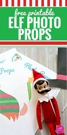 Christmas Elf Photo Props - My Life and Kids Christmas Time Is Here, Christmas Elf, Christmas Crafts, Xmas, Christmas Tree Inspiration, Elf On The Self, Christmas Planning, Prop Design, Free Christmas Printables