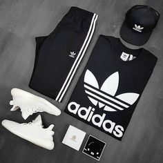 Behind The Scenes By hypedarchive Source by thecustommovement outfit men Sporty Outfits, Swag Outfits, Nike Outfits, Trendy Outfits, Adidas Fashion, Tomboy Fashion, Streetwear Fashion, Fashion Men, Fashion Design
