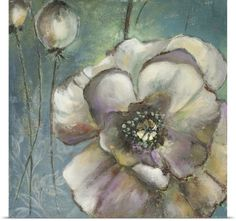 Patricia Pinto Poster Print Wall Art Print entitled Blue Poppies II, None