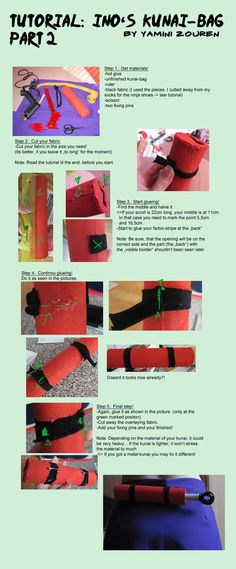 Tutorial: Ino's KunaiBag Part2 by YaminiZouren-Photos on DeviantArt