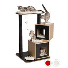 Arbre à chat Vesper Double pour chats                                                                                                                                                                                 Plus