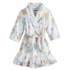 c010a2a7681 Disney Frozen ELSA Ruffled Plush Bath Robe Pajama Cover Toddler 4T  Christmas NEW  Disney