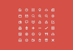 36 free vector icons PSD