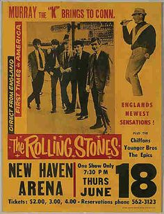 Gig Posters | 1964 Rolling Stones Gig Poster at New Haven from More Things