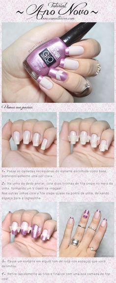 tutorial nail art ano novo